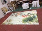 佛山彩雕背景牆廠家個性定制中式客廳電視背景牆 陶瓷藝術壁畫 家和萬事興 瓷磚背景牆
