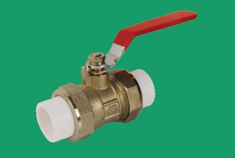 生产供应各种型号PPR双活接铜球阀
