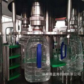 5L桶装水三合一全自动灌装设备 桶装水生产线厂家