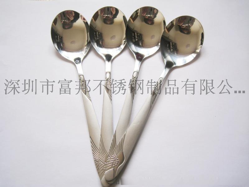 不锈钢仙鹤勺 圆勺