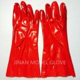 專業手部防護用品 30CM PVC單浸膠耐磨耐酸鹼 防護手套