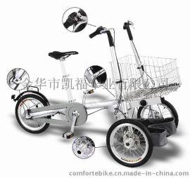 16寸大篮子可手推可骑行购物车