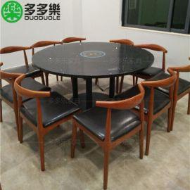 不锈钢火锅餐桌 餐厅大理石火锅桌