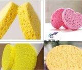 七色可选 圆形木浆棉粉扑 清洁专用木浆棉海绵擦 木浆海绵