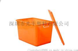 收纳箱食品保鲜箱密封防漏可堆密封储物箱配送整理箱