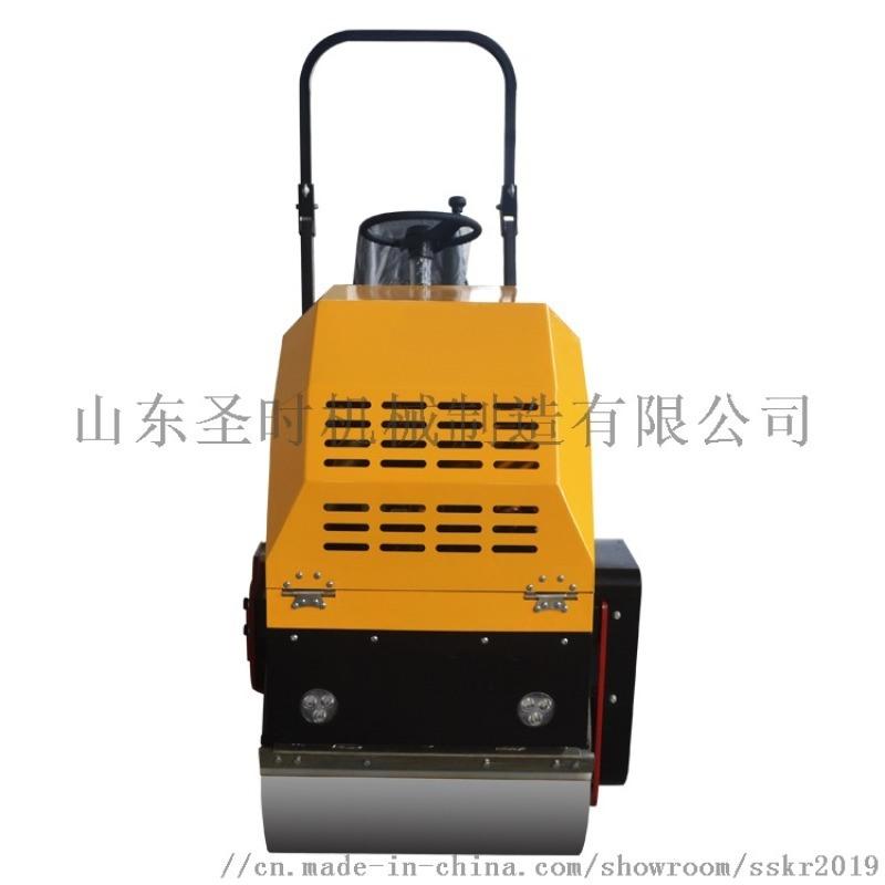 山东1吨座驾式压路机  双轮压路机 振动压路机