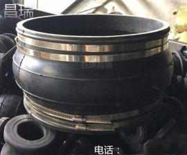 供应临沂KXT型不锈钢卡箍式橡胶接头,卡箍连接橡胶软接头
