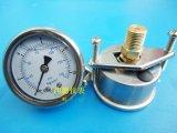 50MM轴向带支架0-10KG压力表,水压表