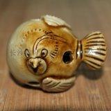 唐長沙窯瓷器仿古陶瓷小鳥茶寵擺件動物玩具
