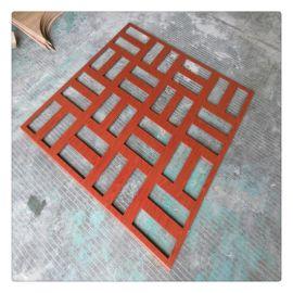 工程镂空雕刻铝单板 高端仿木纹铝窗花格栅室内幕墙