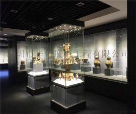 華信博物館展示櫃廠家,定製字畫博物館展櫃工廠
