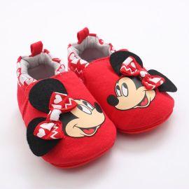 春秋卡通0-2岁婴儿学步棉鞋 **家居防掉鞋 厂家直销货源供应