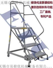 ETU易梯优,全拆装式通用型移动登高梯 美式登高梯 自锁刹车机构