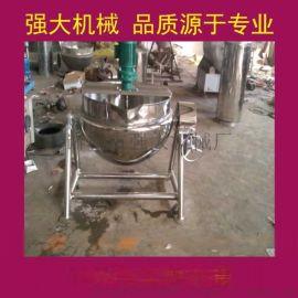 供应强**不锈钢500L带搅拌夹层锅