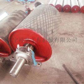 一米皮带机传动包胶滚筒 煤矿阻燃包胶滚筒