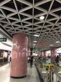 广州地铁包柱铝单板【圆弧闪亮包柱铝板】图片素材