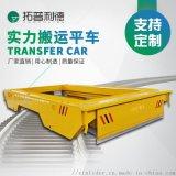 冶金模具18噸過跨平板車雙車聯動軌道平車結構示意圖