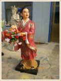 道教木雕八仙神像,玻璃鋼八仙神像雕塑生產廠家