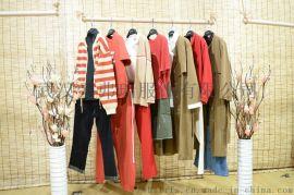 走份折扣品牌女装迪奈尔19年春装新款女士风衣外套