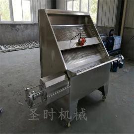 全新污粪处理设备 固液分离脱水机 斜筛式固液分离机