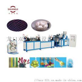 洋葱大蒜塑料网袋机 塑料网挤出机设备 沐浴球生产线