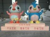 美陳迎賓玻璃鋼企鵝雕塑卡通形象爲企業吉祥物作宣傳
