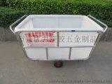 厂家供应:服装厂用方形塑料推布车,防腐蚀漂染推布车,洗衣房用方形布草车