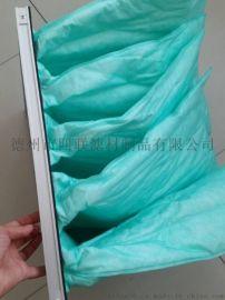 厂家供应初效过滤袋 袋式空气过滤器定制 中央空调袋式初效过滤器