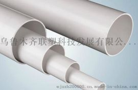新疆联塑牌UPVC中空螺旋消音排水管材管件