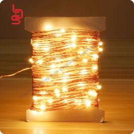 定制10米100燈銅線燈串 節日婚慶led防水燈串