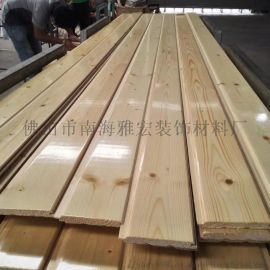 芬兰松免漆板 桑拿板实木扣板 桑拿板多少钱一平方
