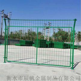 河道护栏网 三角折弯围栏网 铁路防护网生产厂家