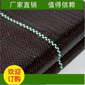 防草布黑色PE编织布透水透气除草布农用地布