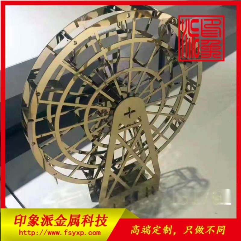 不鏽鋼高技術擺件雕塑製品 彩色不鏽鋼雕塑製品圖片
