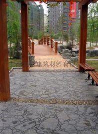 压模地坪在混凝土上所呈现出的色彩和造型