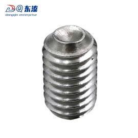 东溱厂家直销304不锈钢内六角凹端紧定螺丝 不锈钢螺钉定制批发