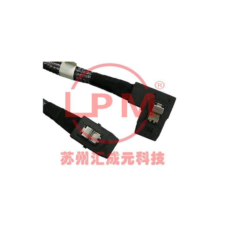 供應 SFF-8087 系列Mini SAS 2.0 4i 6Gbps  左鐮刀式 線纜組件