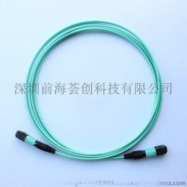 [荟创]MPO-MPO多模光纤跳线 12芯多模光纤跳线12芯带状OM4跳线