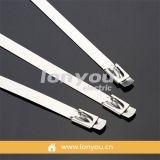 隆优舌型自锁式不锈钢扎带(喷塑)