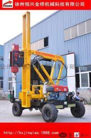 徐州打桩机厂家直销 轮胎式230液压打桩机 高速护栏压桩机