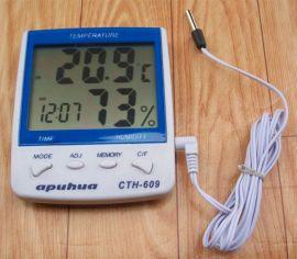 CTH-609升级版HTC-609温湿度表,室内、室外温湿度计带探头