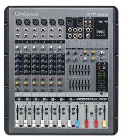 【聚美声】GTP-6606路单声道带功放180W带MP3效果器模拟调音台