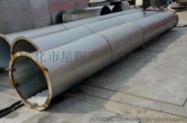 不锈钢大口径焊管_不锈钢焊接焊管法兰式对接圆桶_不锈钢板卷制圆价格生产规格齐全厂家
