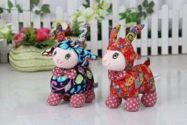 小绵羊嘟嘟羊布艺羊毛绒玩具布娃娃抱枕公仔生日创意礼物本命年羊