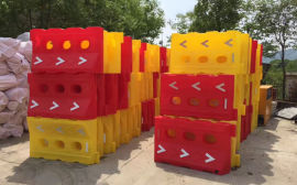 防撞桶塑料水马,交通设施水马