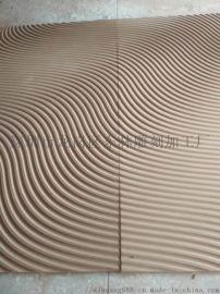 定制家居建材板材商铺形象墙前台背景墙立体波浪板
