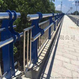 桥梁护栏网 金属制梁柱式护栏 复合管桥梁护栏