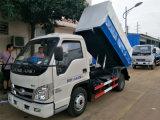福田自装卸式挂桶式垃圾车
