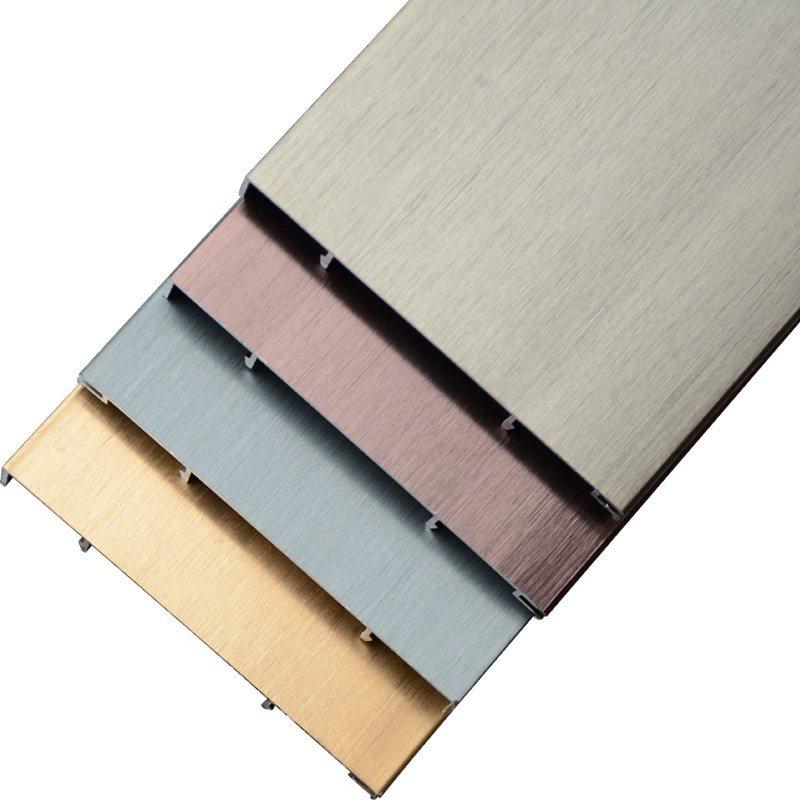 厂家直销迈泽建材批发地板地脚线拉丝铝合金踢脚线、板