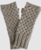 欧美女式流行麻绳花型无指针织手套